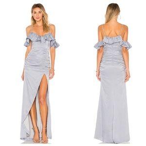 NEW NWT Majorelle Baby Blue Maxi Gown Ruffle
